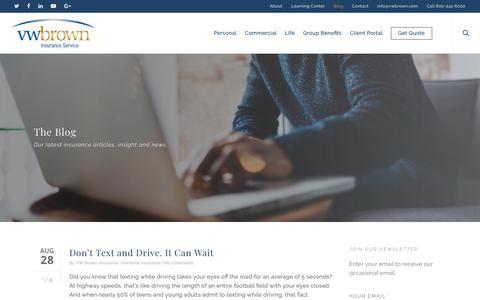 Screenshot of Blog vwbrown.com - Blog - VW Brown Insurance Service - captured Oct. 20, 2018