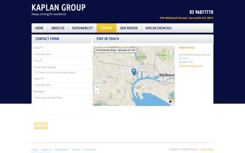 Screenshot of Privacy Page Contact Page kaplangroup.net - Commercial Window Cleaning Melbourne - captured Nov. 6, 2018