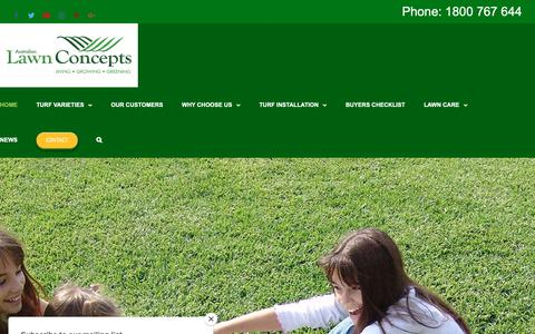 Screenshot of Home Page alcturf.com.au - Turf Grass Lawn Suppliers Brisbane Gold Coast: ALC Turf Lawn Concepts - captured Oct. 4, 2018