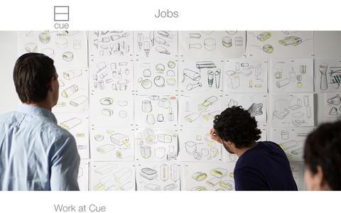 Screenshot of Jobs Page cue.me - Jobs | Cue.me - captured Dec. 17, 2014