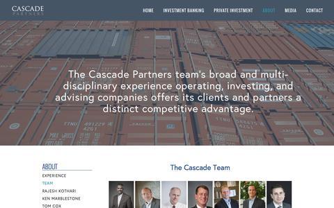Screenshot of Team Page cascade-partners.com - Team — Cascade Partners - captured July 11, 2016