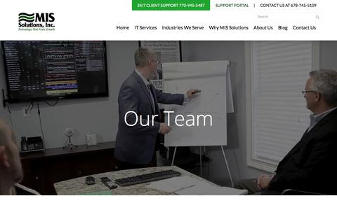 Screenshot of Team Page mis-solutions.com - Our Team - MIS Solutions - captured Aug. 31, 2019
