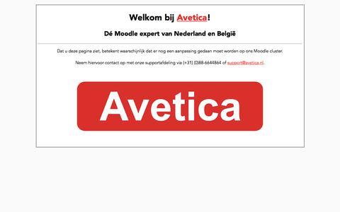 Landingspagina Avetica - Moodle hosting, training en support