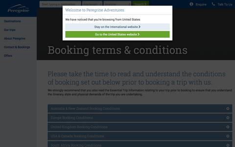 Screenshot of Terms Page peregrineadventures.com - Booking terms & conditions | Peregrine Adventures - captured Dec. 8, 2015