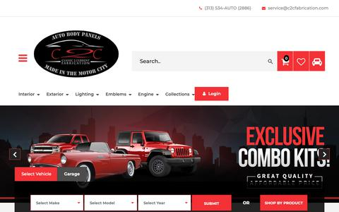 Screenshot of Contact Page c2cfabrication.com - Contact Us - captured Sept. 28, 2018