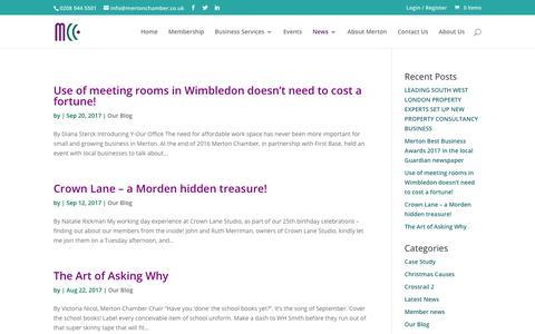 Screenshot of Blog mertonchamber.co.uk - Our Blog Archives - Merton Chamber of Commerce - captured Oct. 18, 2017
