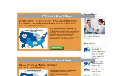 Screenshot of Blog rmhcss.com - Medical Billing NEWS / BLOG   United States   RM Healthcare - captured July 10, 2018
