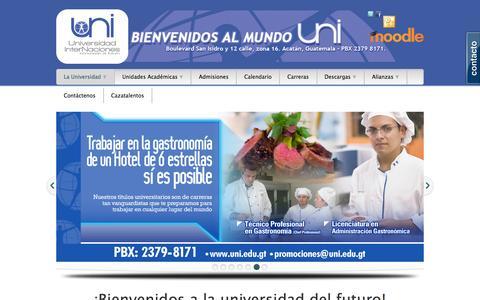 Screenshot of Home Page internaciones.edu.gt - Universidad InterNaciones - captured June 4, 2016