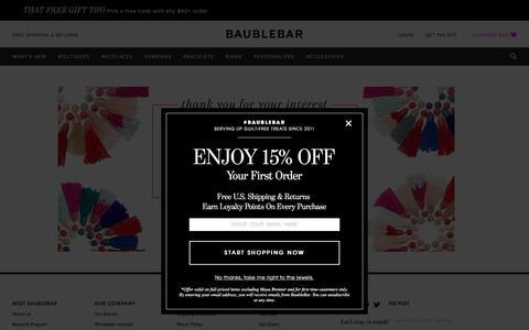 Wholesale Inquiries   BaubleBar