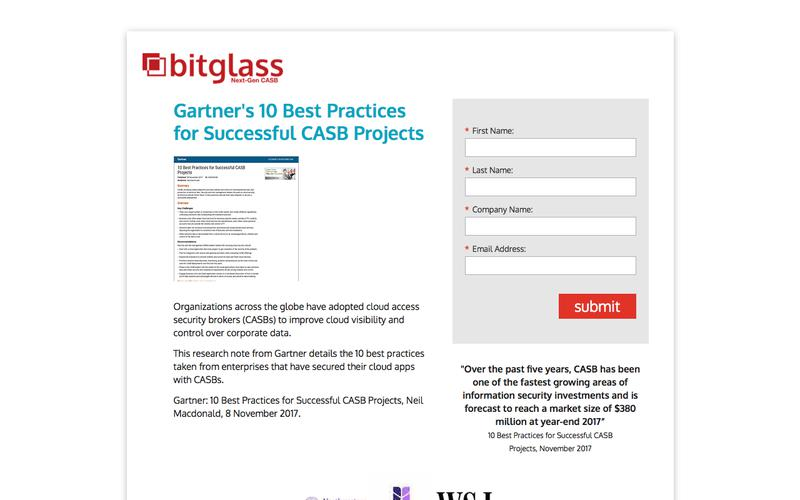Gartner 10 Best Practices for Successful CASB Projects