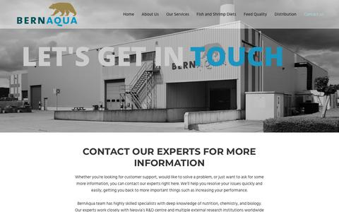 Screenshot of Contact Page bernaqua.com - Contact our experts and ask for an advice | BernAqua - captured July 5, 2018