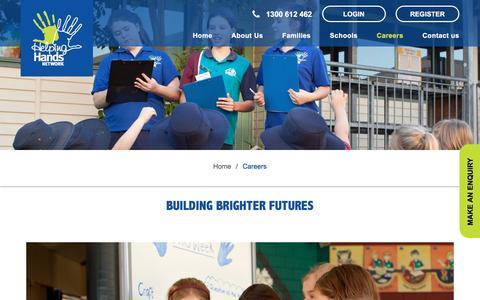 Screenshot of Jobs Page helpinghandsnetwork.com.au - Careers – Helping Hands Networks - captured July 18, 2018