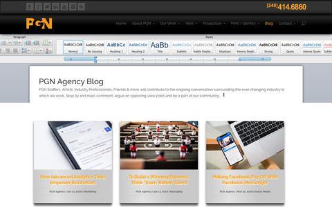 Screenshot of Blog pgnagency.com - PGN Agency Blog - captured July 15, 2018