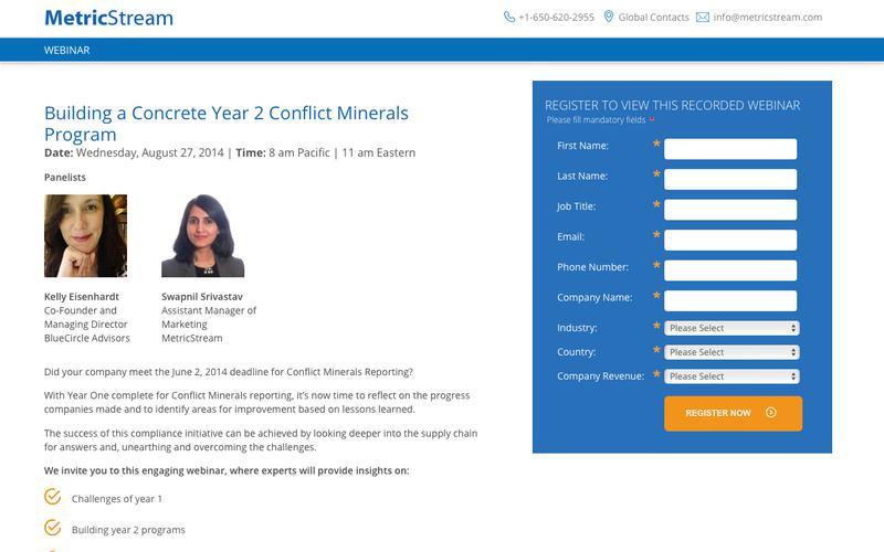 WEBINAR: Building a Concrete Year 2 Conflict Minerals Program