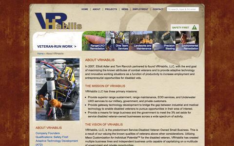 Screenshot of About Page vrhabilis.com - About VRHabilis LLC & Company Founders - captured Oct. 26, 2014