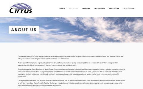 Screenshot of About Page cirrusassociates.com - About Us — Cirrus Associates, LLC - captured July 31, 2017