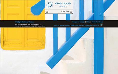 Screenshot of Home Page greekislandcruises.eu - Greek Island Cruises - Welcome - captured May 24, 2017