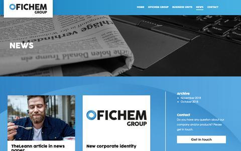 Screenshot of Press Page ofichem.com - News » Ofichem - captured Nov. 11, 2018