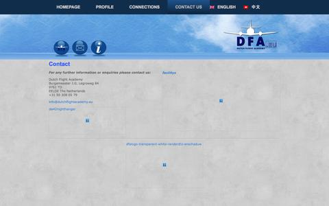 Screenshot of Contact Page dutchflightacademy.eu - Contact Us   Dutch Flight Academy - captured Sept. 30, 2014