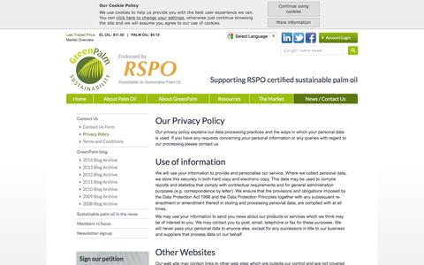 Screenshot of Privacy Page greenpalm.org - GreenPalm :: Privacy Policy - captured Dec. 15, 2015
