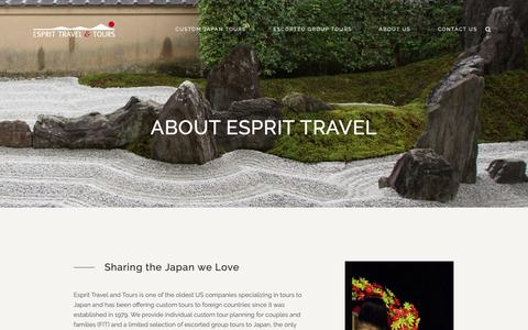 Screenshot of About Page esprittravel.com - About Us - Esprit Travel and Tours - captured Sept. 29, 2018