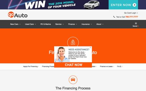 Screenshot of FAQ Page goauto.ca - Free Customer Rewards Program|Special Offers & Savings in Edmonton|Go Auto | Go Auto - captured July 15, 2016