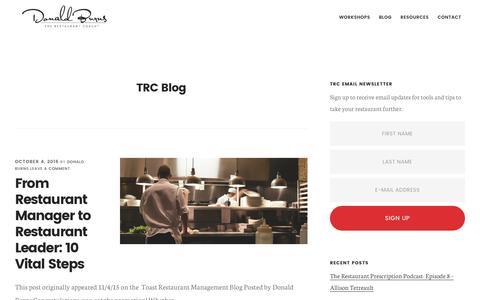 Screenshot of Blog donaldburns.net - TRC Blog — Donald Burns - captured Dec. 1, 2016