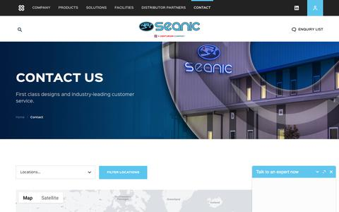 Screenshot of Contact Page seanicusa.com - Seanic Ocean Systems | Contact - captured Sept. 24, 2018