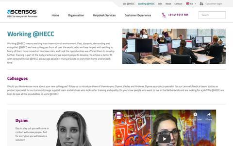 Screenshot of Team Page hecc.com - Working @HECC | HECC Alliance - captured Oct. 25, 2018