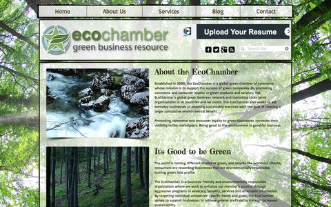 Screenshot of About Page ecochamber.com - About the EcoChamber - captured May 14, 2017