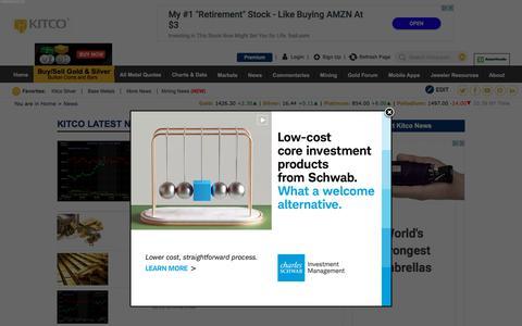 Screenshot of Press Page kitco.com - Gold News, Silver News, Interviews & Analysis | KITCO - captured July 23, 2019