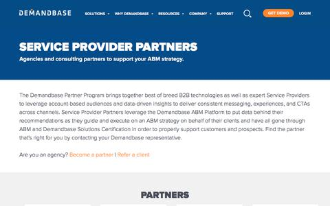 Screenshot of About Page demandbase.com - ABM Ecosystem Service Provider Partners | Account-Based Marketing – Demandbase - captured Nov. 6, 2019