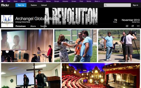 Screenshot of Flickr Page flickr.com - Flickr: Archangel Global Media's Photostream - captured Oct. 23, 2014