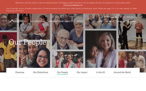 Screenshot of Team Page awana.org - Our People - Awana - captured July 31, 2018