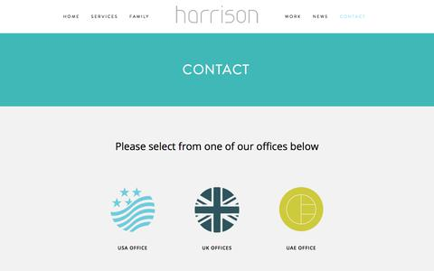 Screenshot of Contact Page harrison.hn - Contact – Harrison Design - captured July 18, 2017