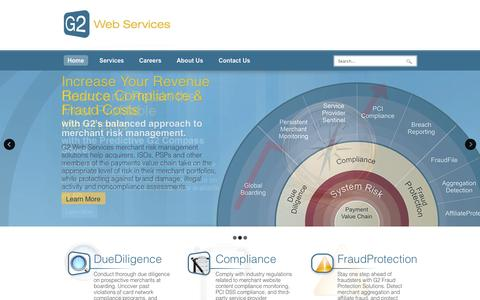Screenshot of Home Page g2webservices.com - G2 Web Services - captured Sept. 12, 2014