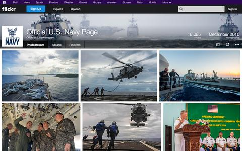 Screenshot of Flickr Page flickr.com - Flickr: Official U.S. Navy Imagery's Photostream - captured Oct. 30, 2014
