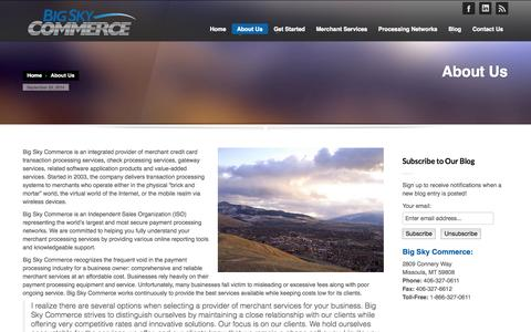 Screenshot of About Page bigskycommerce.com - Big Sky Commerce | About Us - captured Sept. 30, 2014