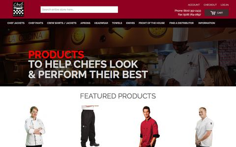 Screenshot of Home Page chefrevival.com - Chef Revival: Professional chef uniforms & clothing - captured July 17, 2018