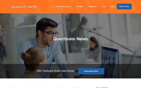 Screenshot of Press Page quantivate.com - News posts Archives - Quantivate - captured Nov. 26, 2017