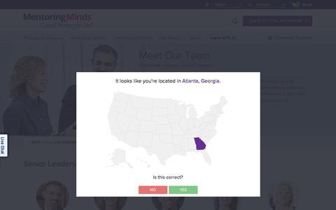 Screenshot of Team Page mentoringminds.com - Meet Our Team | Mentoring Minds - captured Oct. 7, 2017
