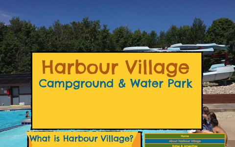 Screenshot of About Page harbourvillageresort.net - Harbour Village Resort   About Harbour Village - captured July 16, 2017