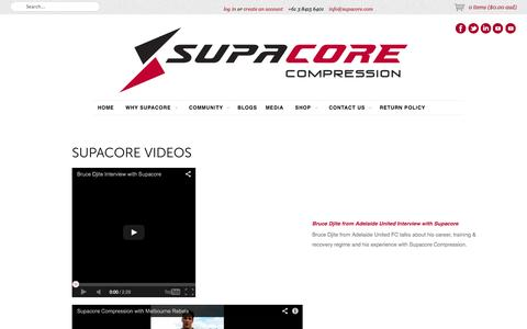 Screenshot of Press Page supacore.com - Supacore Videos - captured Sept. 30, 2014