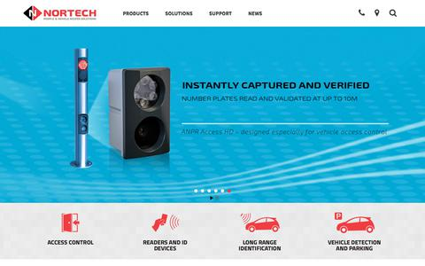 Screenshot of Home Page nortechcontrol.com - Access Control Systems, Manufacturer & Supplier | Nortech Control Systems Ltd - captured Nov. 8, 2017