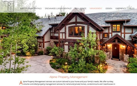 Screenshot of Team Page alpineproperty.com - Property Management Services | Alpine Property - captured Nov. 20, 2016