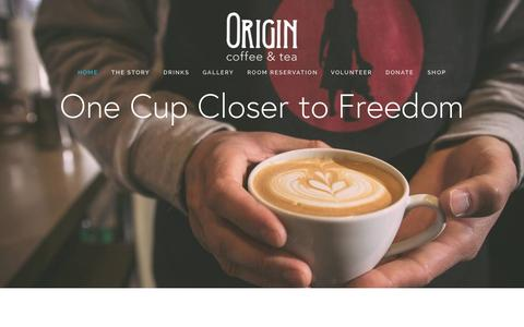 Screenshot of Home Page origincoffee.org - Origin Coffee and TeaOrigin Coffee & Tea - captured Sept. 3, 2015