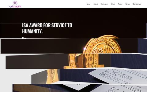 Screenshot of Home Page admarkgulf.com - ad.mark | An Advertising & Branding Agency | Bahrain - captured Dec. 23, 2015