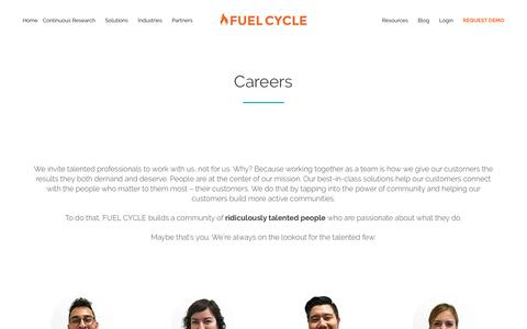 FUEL CYCLE Online Community Technology Careers -Welcome