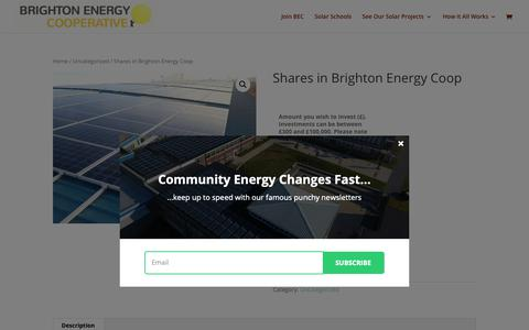 Screenshot of Signup Page brightonenergy.org.uk - Shares in Brighton Energy Coop - Brighton Energy Cooperative - captured Oct. 6, 2018
