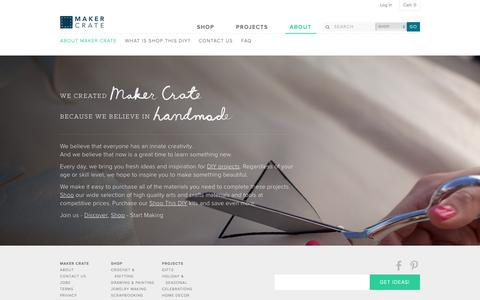 Screenshot of About Page makercrate.com - About Us | Maker Crate - captured Oct. 18, 2018